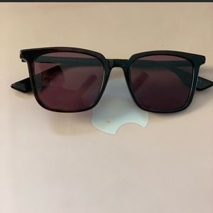 Brown and Amber McQ by McQueen Sunglasses